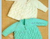 PDF Knitting Pattern for 2 Matinee Coats in 2  Pretty Designs - Instant Download