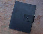 Leather Moleskine Notebook Cover for 19x25 cm Cahier with Optional Monogram- COVER ONLY