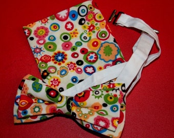 Spring Bow Tie Happy Bowtie Men's bow tie Groomsman bow tie Urban Bowtie Harajuku Bowtie hippie Bow Tie Pocket square GIFT