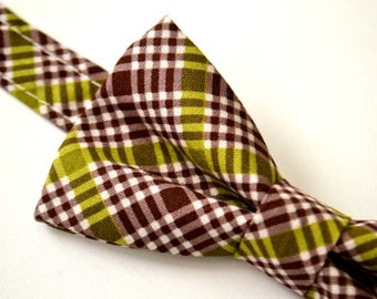 Mens Plaid Bowtie, Eggplant Plaid Bow Tie, Dark Purple Bow Tie, Groomsmen Bow Tie, By AmandaJoHandmade on Etsy