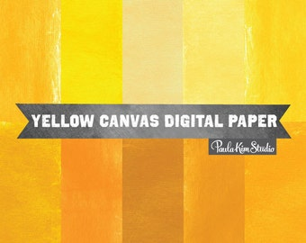 80% OFF SALE Yellow Digital Paper with Canvas Textures Instant Download Images - Burlap Texture Backgrounds