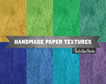 80% OFF SALE Digital Paper Pack, Texture Scrapbook Paper Images, Handmade Paper Background Digital Download