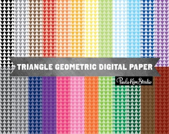Geometric Triangle Pattern Tribal Digital Paper, Geometric Pattern Backgrounds, Instant Download, Commercial Use