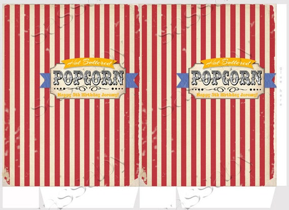 Smart image within popcorn bag printable
