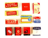 Vintage Dennison Office Supplies in Original Boxes, 11 Boxes Full of Supplies (c.1940s) - Collectible,  Scrapbook