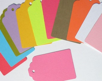 240 paper  tags - use for - colorful gift tags-  wedding tags -packaging tags - paper goods