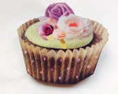 Cupcake Green Purple Teacup Wooden Brooch Pin Gift Vintage Style Afternoon Tea Alice in Wonderland Party Birthday Hen Bridal Shower for Her