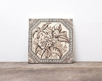 Antique Ceramic Tiles set of 6 Victorian
