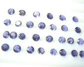 25 Pc Gorgeous Blue Iolite Ropund Cut Stone 5x5mm Wholesale Price