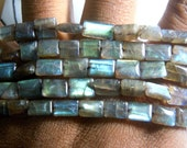 Labradorite-Beads Labradorite Rectangle Smooth Beads  Beads Size 7x10MM Approx 14'' AAA Quality Wholesale Price 5 strands
