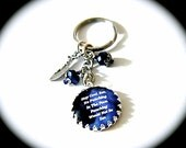 Kate Daniels Keychain - Stay Cool...Zen - Bag Charm - Zipper Pull - Theme Accessories - Book Quote - Urban Fantasy - Book Swag