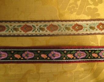 Vintage French Jacquard Weave Trim