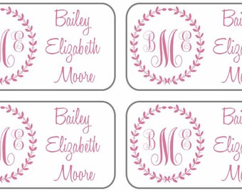 55 Custom Stick On Clothing Labels - Washing machine and dryer safe - Personalized clothing labels