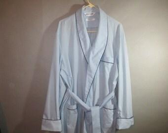 Men's Bath Robe // Lt Blue Pierre Cardin Robe //  Poly Cotton ...XL
