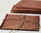 Set of vintage Envelopes // 4x6  Brown Envelopes // Invitation Envelopes // Favor Bags/ Retro Envelopes