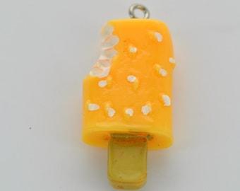 1 Large Resin YELLOW ORANGE POPSICLE cha0019