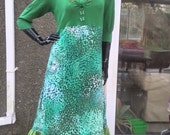 SALE green goddess butterfly nature faery upcycled dress size uk 12 14