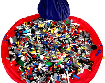 Lego Bag  • Lego Storage... Easy for kids to use!! Lego Bag, Lego Play Mat • Lego Storage Bag by Toyzbag-120cm diameter mat