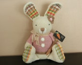 Stuffed Country Bunny Decor