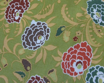 amy butler fabric, gypsy caravan, gypsy mum - pesto, 1 yard