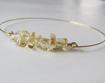 Citrine Bracelet Citrine Jewelry Gemstone Bracelet Yellow Bracelet Natural Stone Jewelry Bohemian Gifts For Women Beach Jewelry Boho Chic