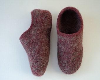 PDF Womens Felted Slippers Knit Wool Pattern