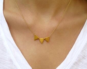 Petite Triple Chevron Necklace