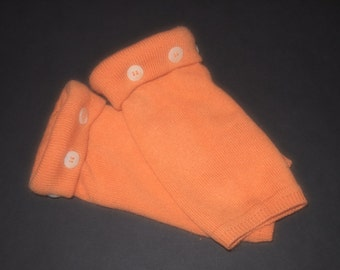 Fingerless Gloves Cashmere Orange
