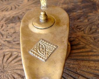 Brass small Moroccan Aladdin's genie lamp (T)