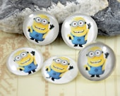 New Despicable Me Minion Handmade photo glass cabochon dome 10mm 12mm 14mm16mm 18mm 20mm 25mm 30mm For Earring Brooch Ring Bracelet Necklace