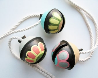 Multi-Color Hand Painted Vintage Bells