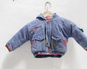 90s children's KRISS kross SKATER hoodie KIDS denim jacket