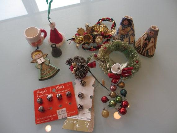 Vintage lot christmas decorations