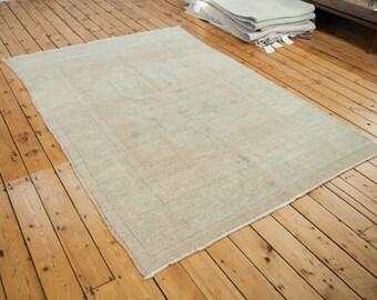 6x8.5 Vintage Oushak Carpet