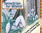 PDF Crochet Pattern Snowdrops for Winter, one of the  Four Seasons Wall Hangings
