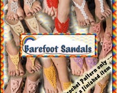 PDF Crochet Pattern for Barefoot Sandals