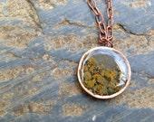 Alaska Lichen Copper Necklace