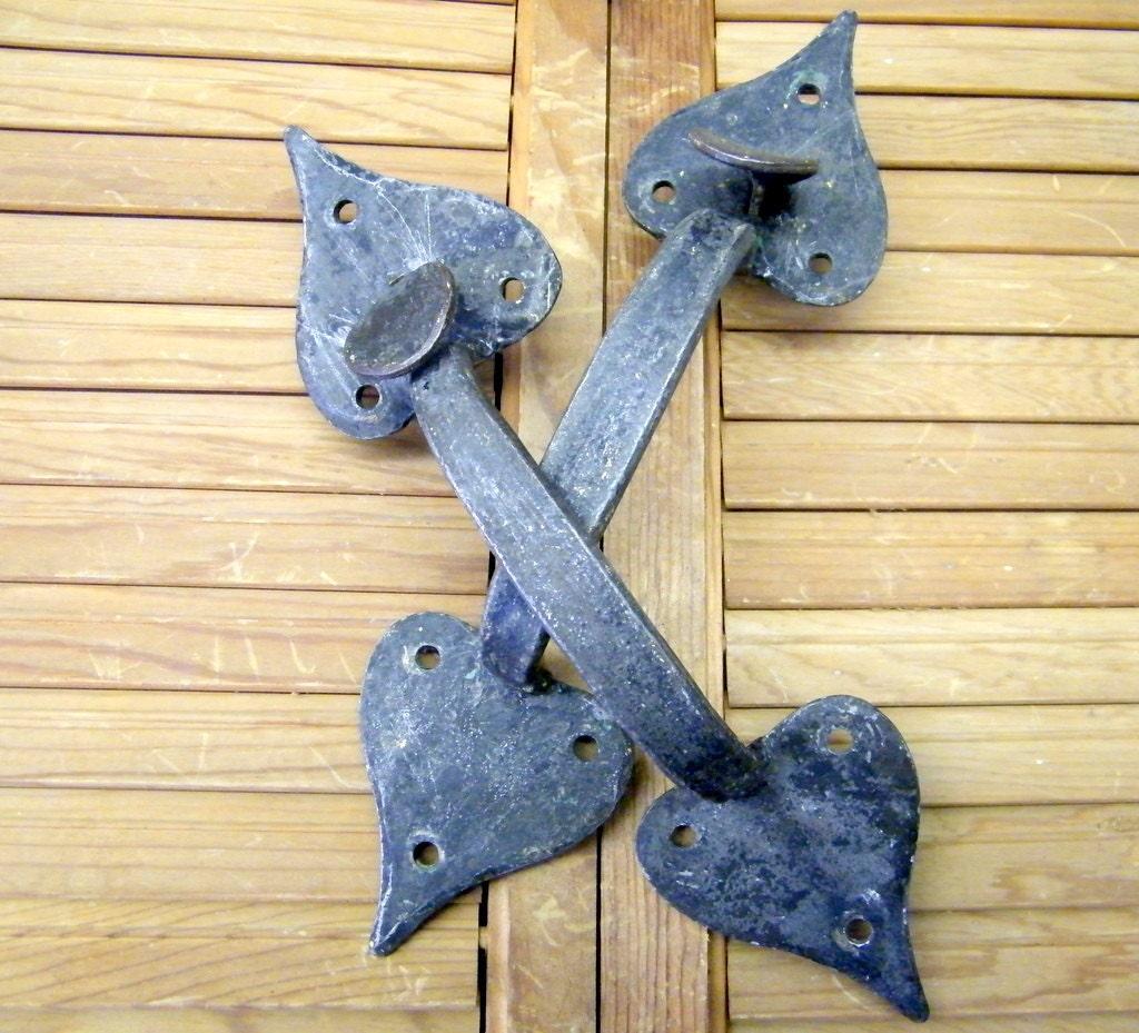 Old Vintage Metal Garden Gate Farm Barn Door Pull Handles