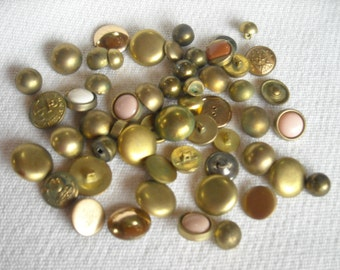 Vintage Buttons, Sewing Supply, Sewing Supplies Destash, Destash Buttons, Brass Buttons, Mixed Lot of Vintage Buttons, Lot 1, FREE SHIPPING
