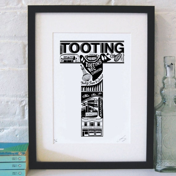 Best of Tooting limited edition screenprint // London Letters series
