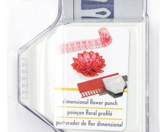 On Sale - DIMENSIONAL LILY FLOWER Large Slim Edger Border Paper Punch by Ek Success