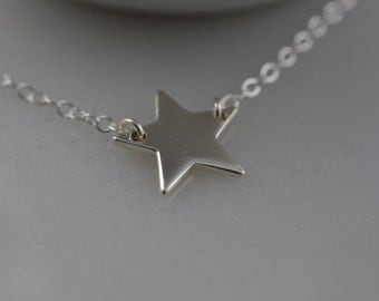 Sterling Silver Star Necklace - Sterling Silver Star Anklet