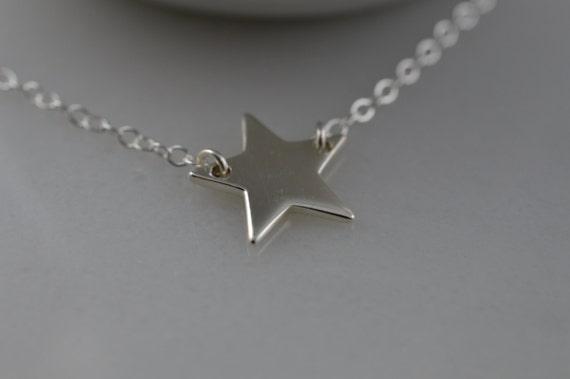Sterling Silver Star Necklace - Sterling Silver Star Anklet