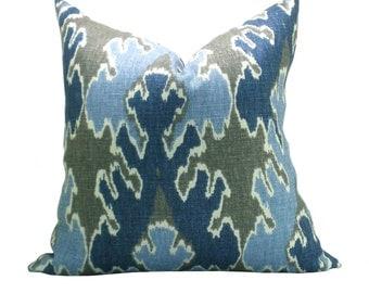Kelly Wearstler Bengal Bazaar pillow cover in Grey/Indigo