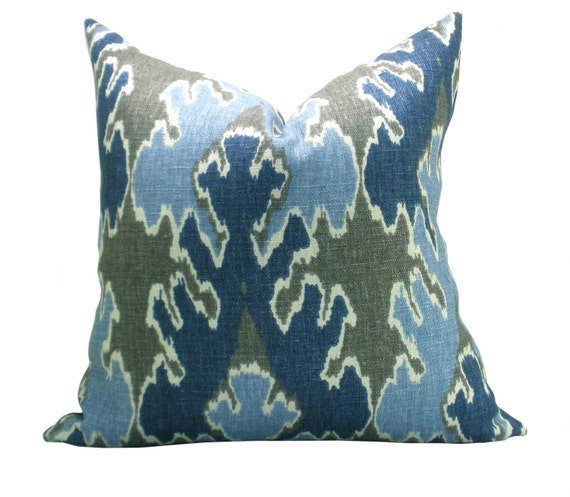 Kelly Wearstler Bengal Bazaar pillow cover in Grey/Indigo