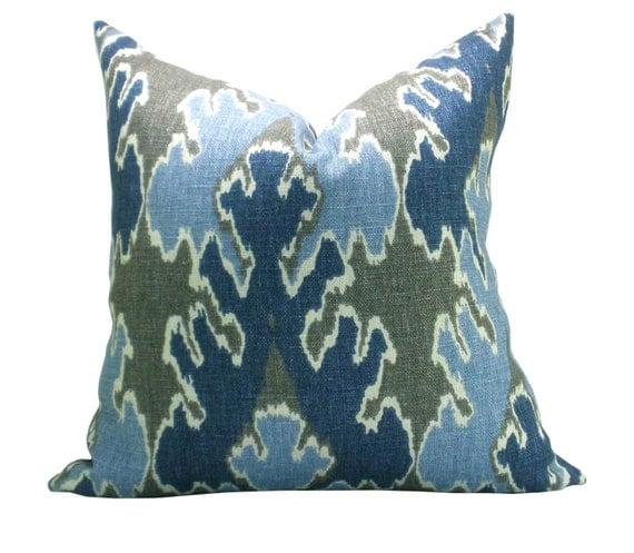 Bengal Bazaar pillow cover in Grey/Indigo