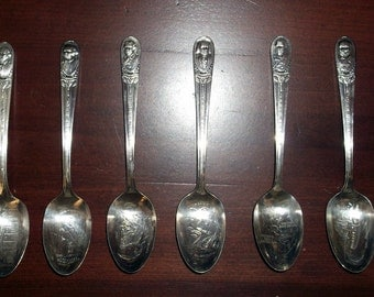 Silver Plated Presidential Spoons - Commemorative Presidential Spoons - WM Rogers Mfg Co. International Silver Presidential Souvenir Spoons