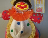 Vintage 1980's Cabbage Patch Circus Kids Clown Doll With Papers