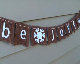 Be Joyful Burlap Holiday Bunting