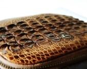 V I N T A G E // Croco Leather Case// Etui